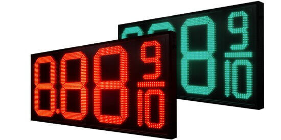 Gas Price Changers by Stewart Signs Wholesale