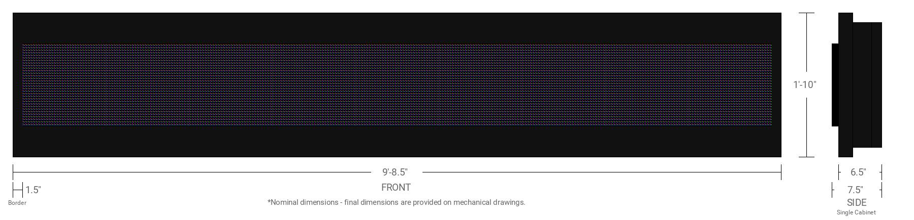 Aurora 10mm 32x288 Single Sided Full Color LED Display