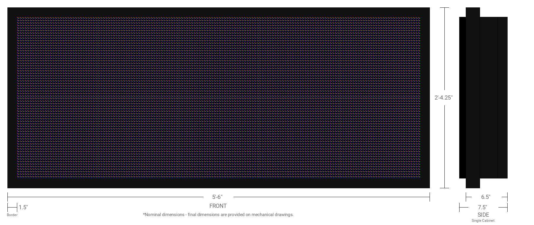 Aurora 10mm 64x160 Single Sided Full Color LED Display