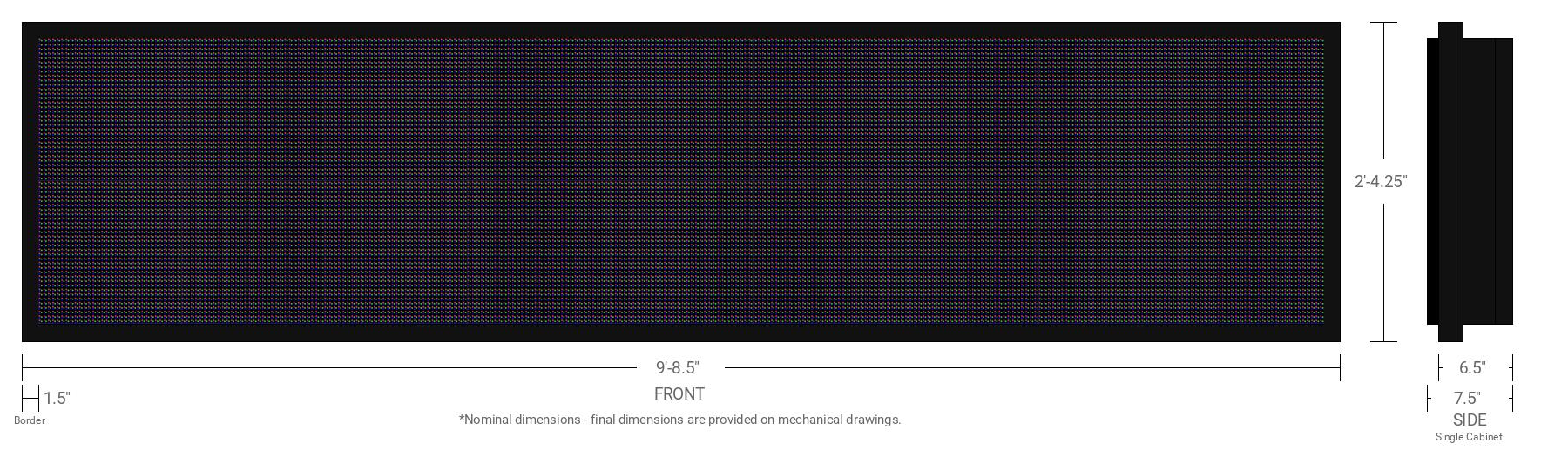 Aurora 10mm 64x288 Single Sided Full Color LED Display