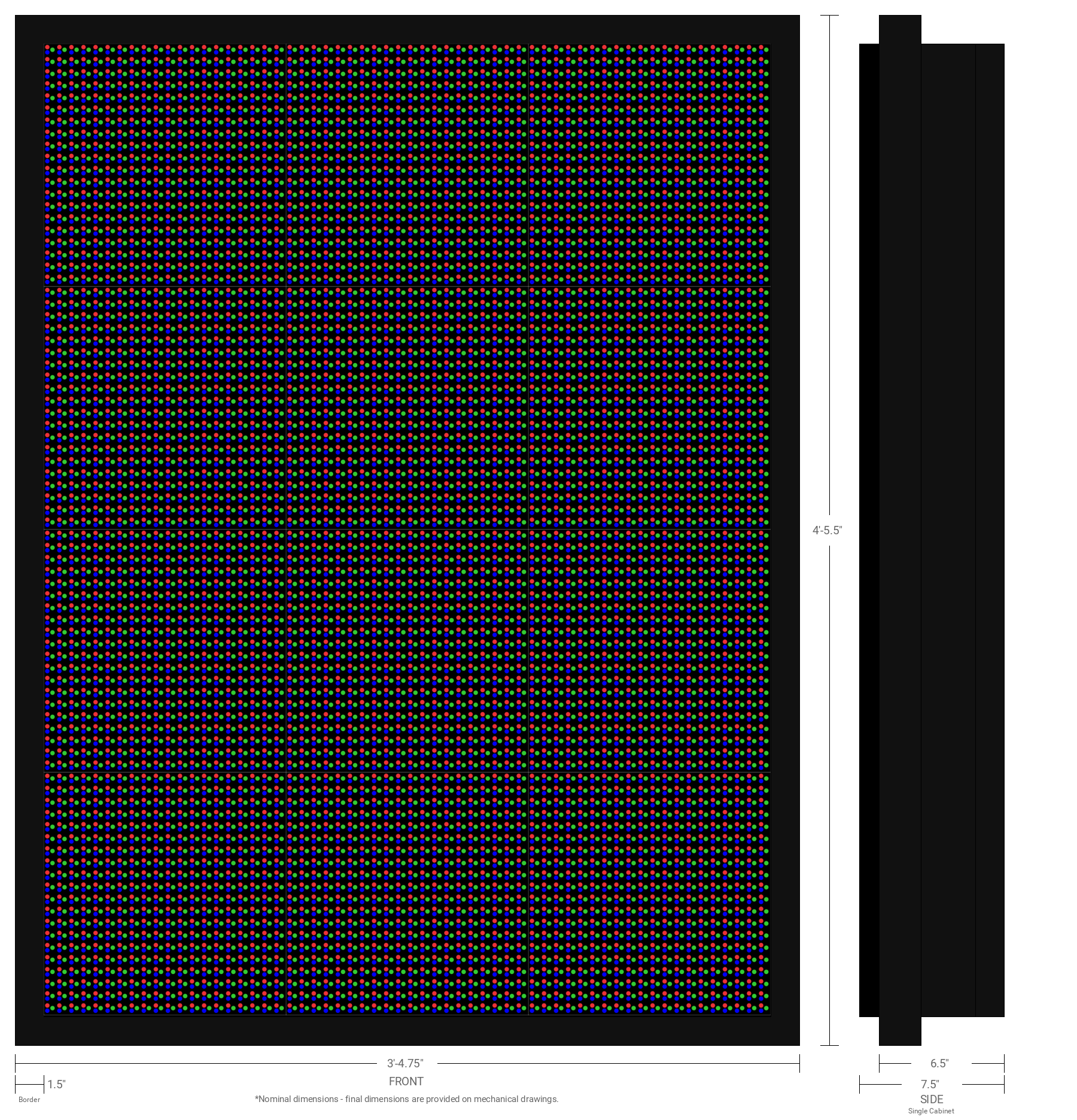 Aurora 16mm 80x60 Double Sided Full Color LED Display