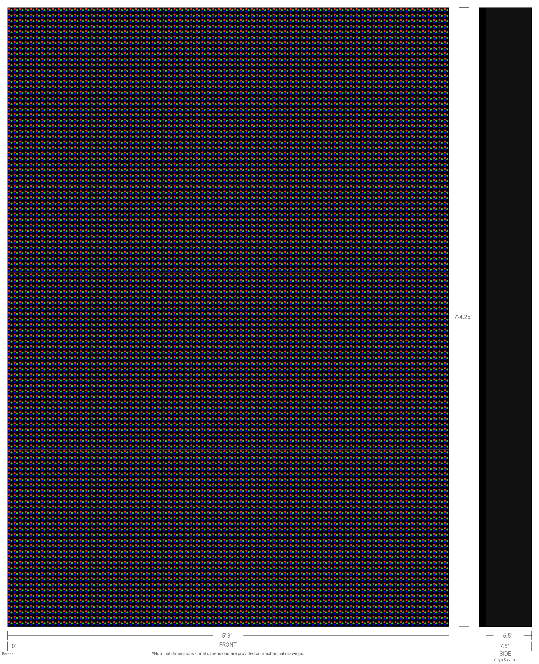 Aurora 20mm 112x80 Single Sided Full Color LED Display