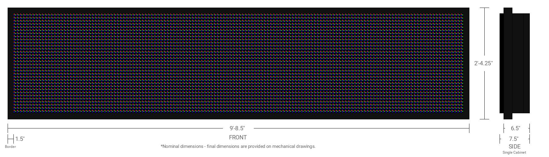 Aurora 20mm 32x144 Single Sided Full Color LED Display