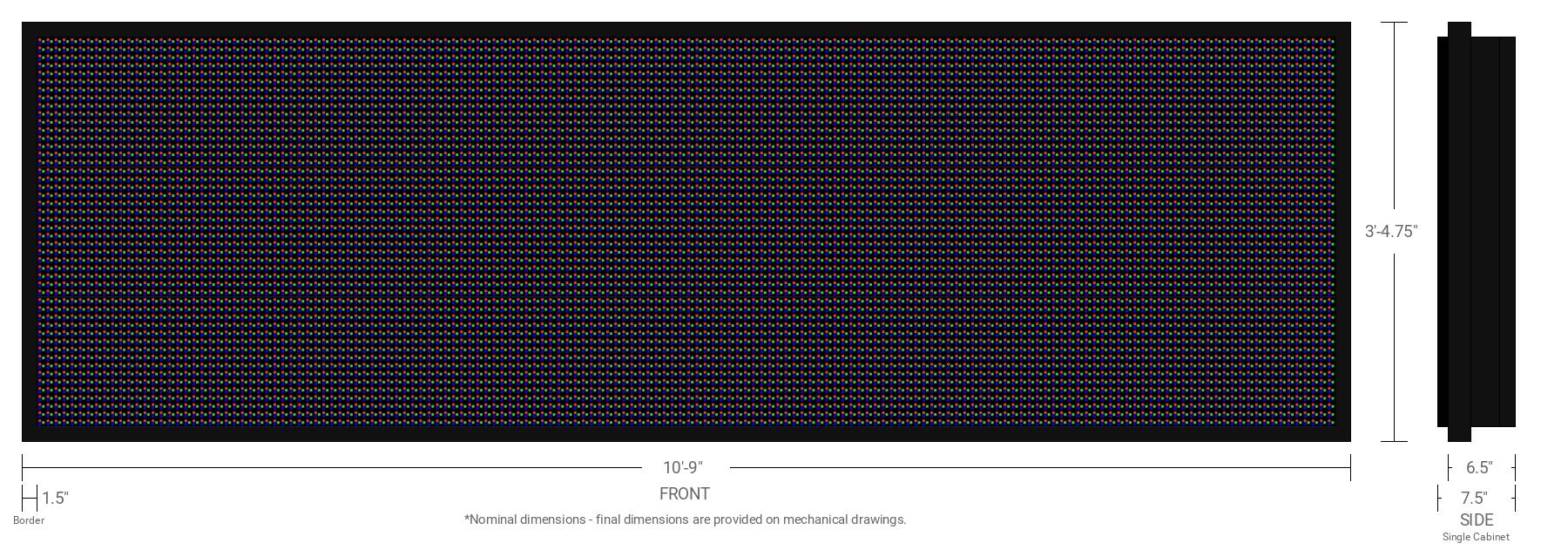Aurora 20mm 48x160 Single Sided Full Color LED Display
