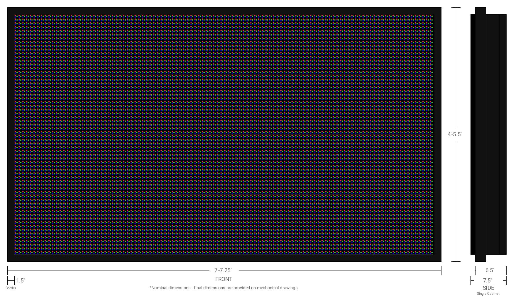 Aurora 20mm 64x112 Single Sided Full Color LED Display