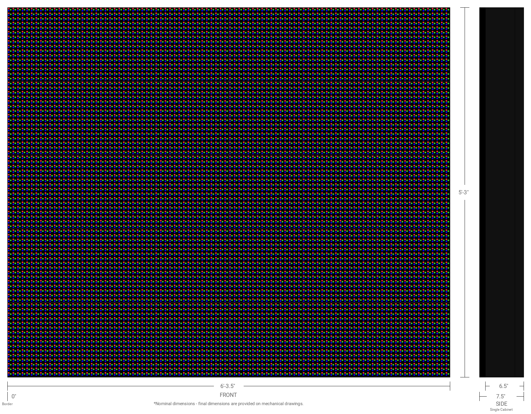 Aurora 20mm 80x96 Single Sided Full Color LED Display