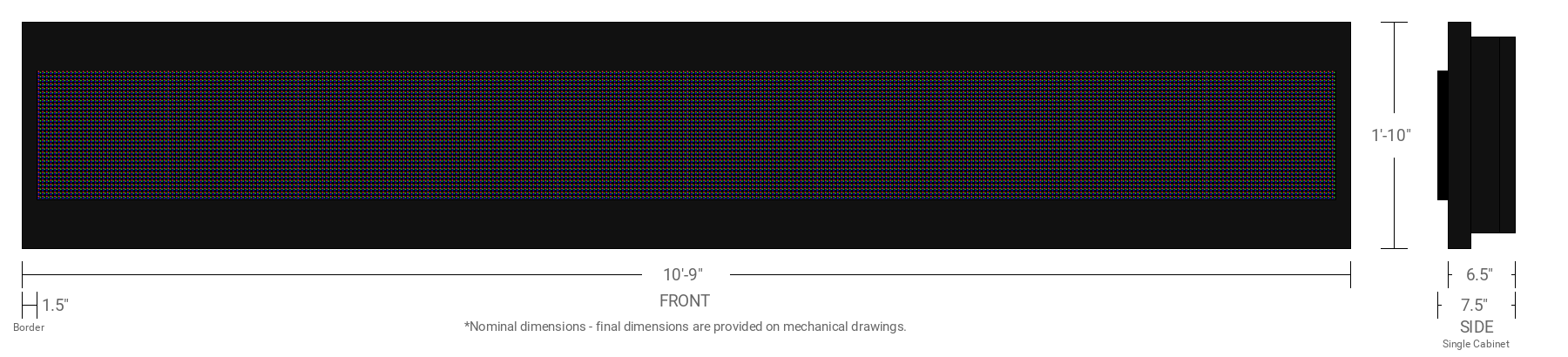 Polaris 10mm 32x320 Single Sided Full Color LED Display