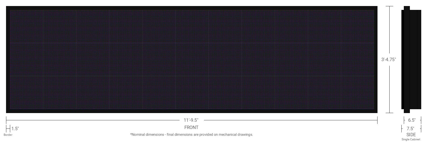 Polaris 10mm 96x352 Single Sided Full Color LED Display