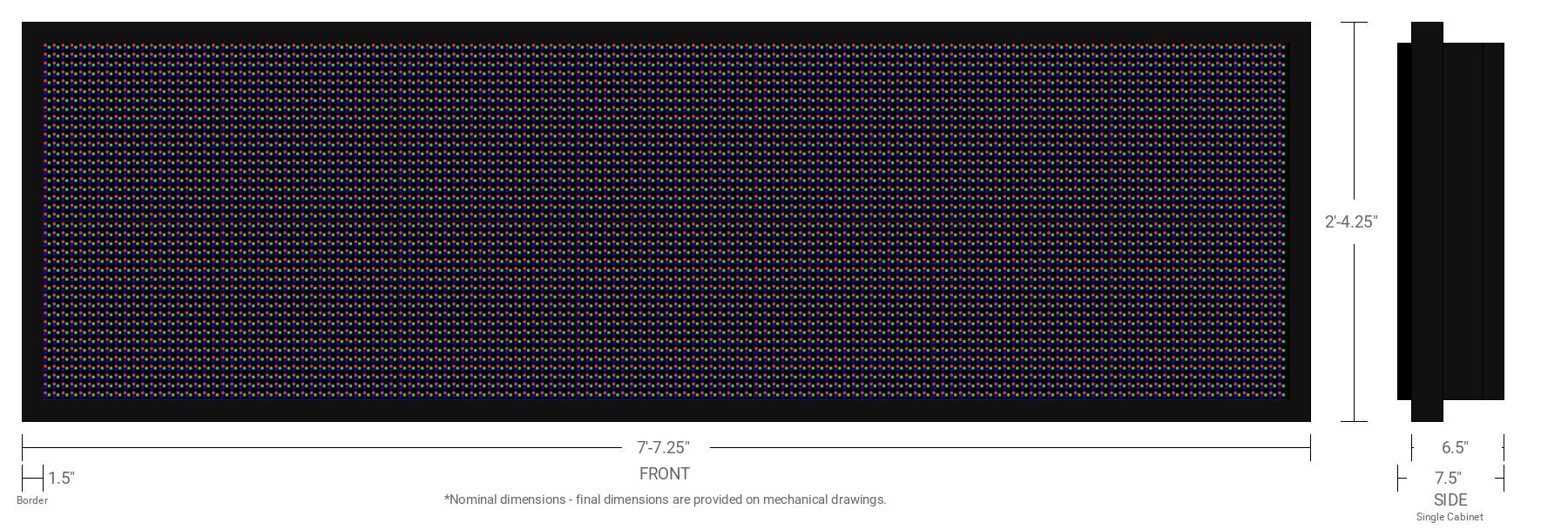 Polaris 16mm 40x140 Single Sided Full Color LED Display