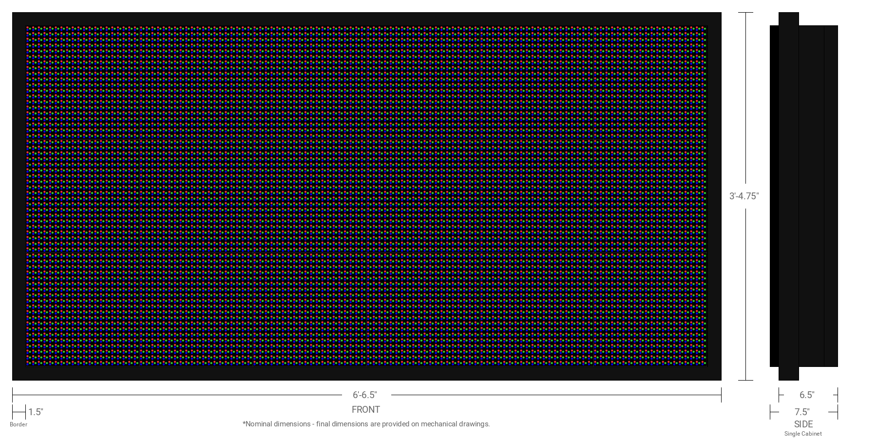 Polaris 16mm 60x120 Single Sided Full Color LED Display