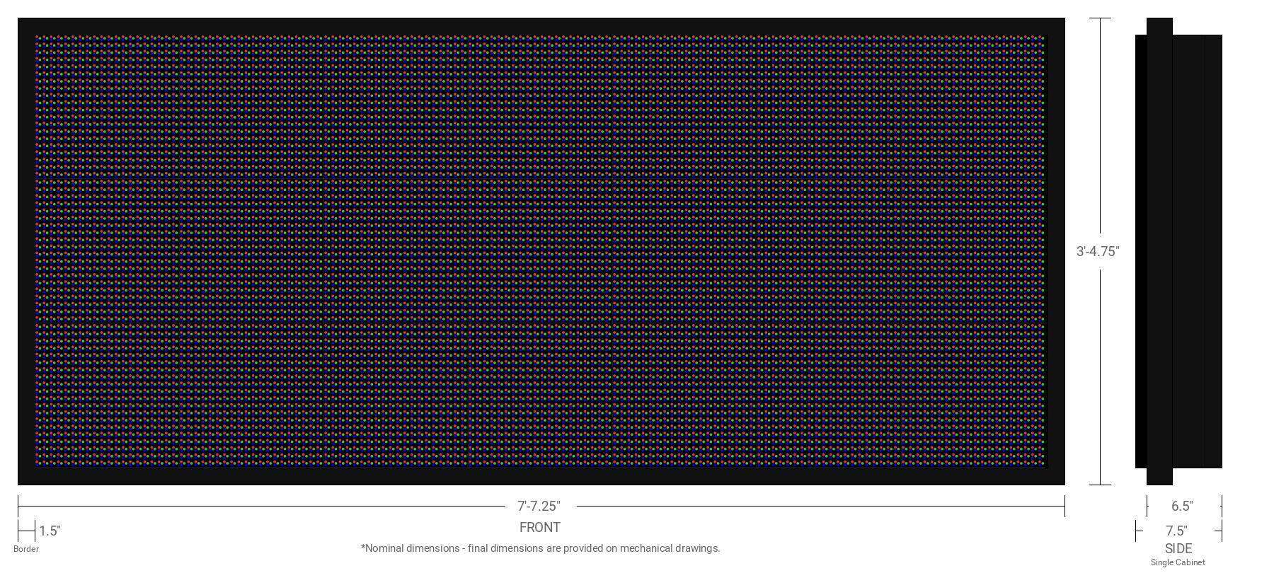 Polaris 16mm 60x140 Single Sided Full Color LED Display