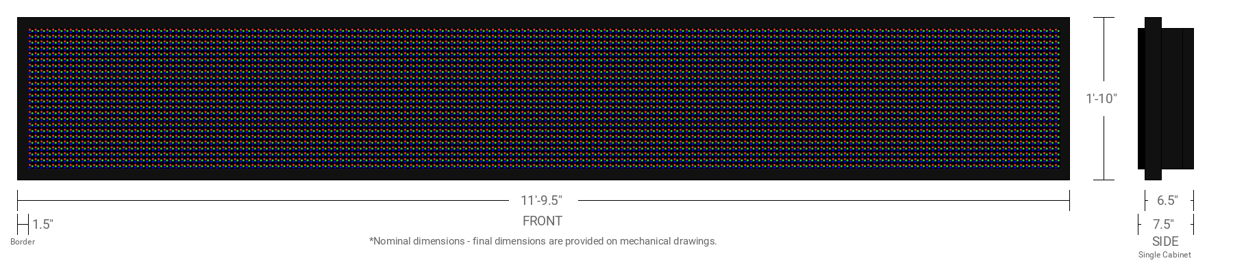 Polaris 20mm 24x176 Single Sided Full Color LED Display