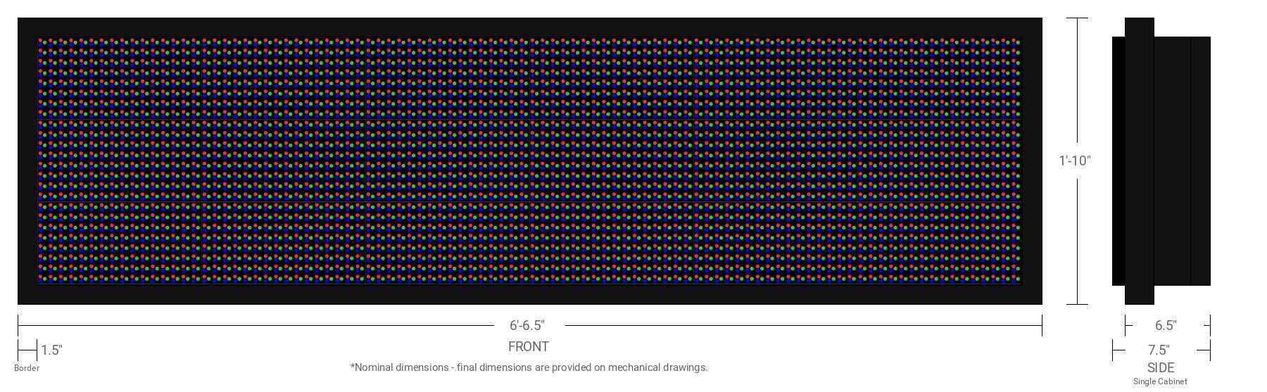 Polaris 20mm 24x96 Single Sided Full Color LED Display
