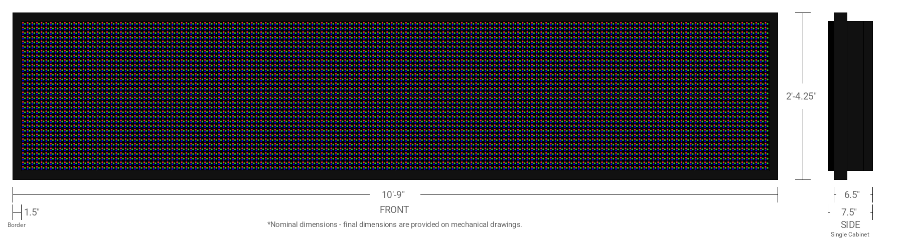 Polaris 20mm 32x160 Single Sided Full Color LED Display