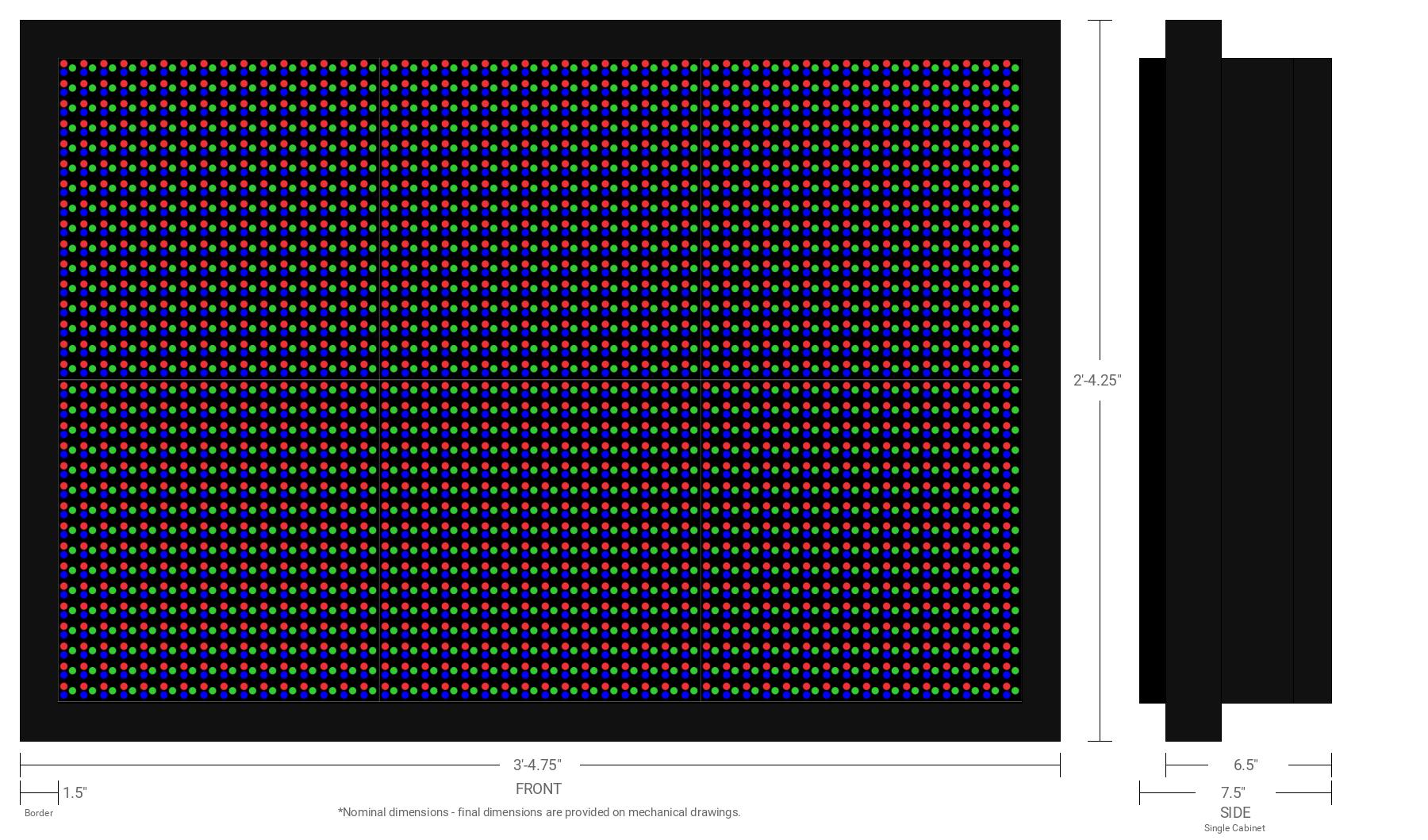 Polaris 20mm 32x48 Single Sided Full Color LED Display