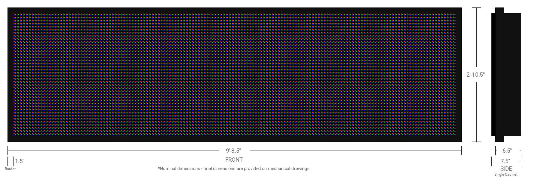 Polaris 20mm 40x144 Single Sided Full Color LED Display