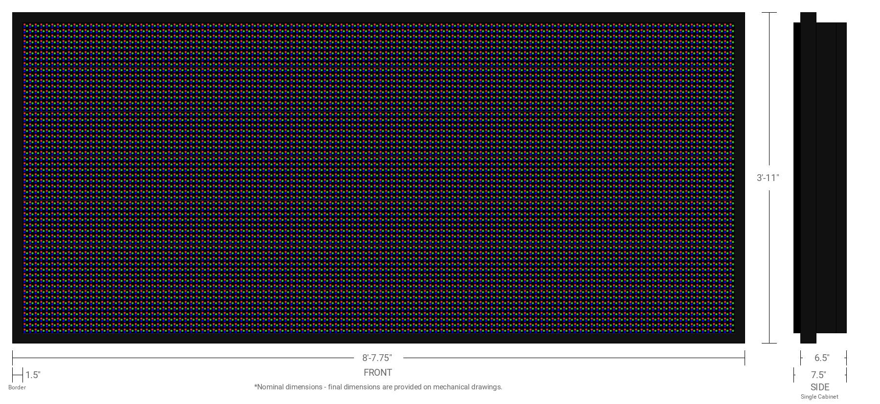 Polaris 20mm 56x128 Single Sided Full Color LED Display