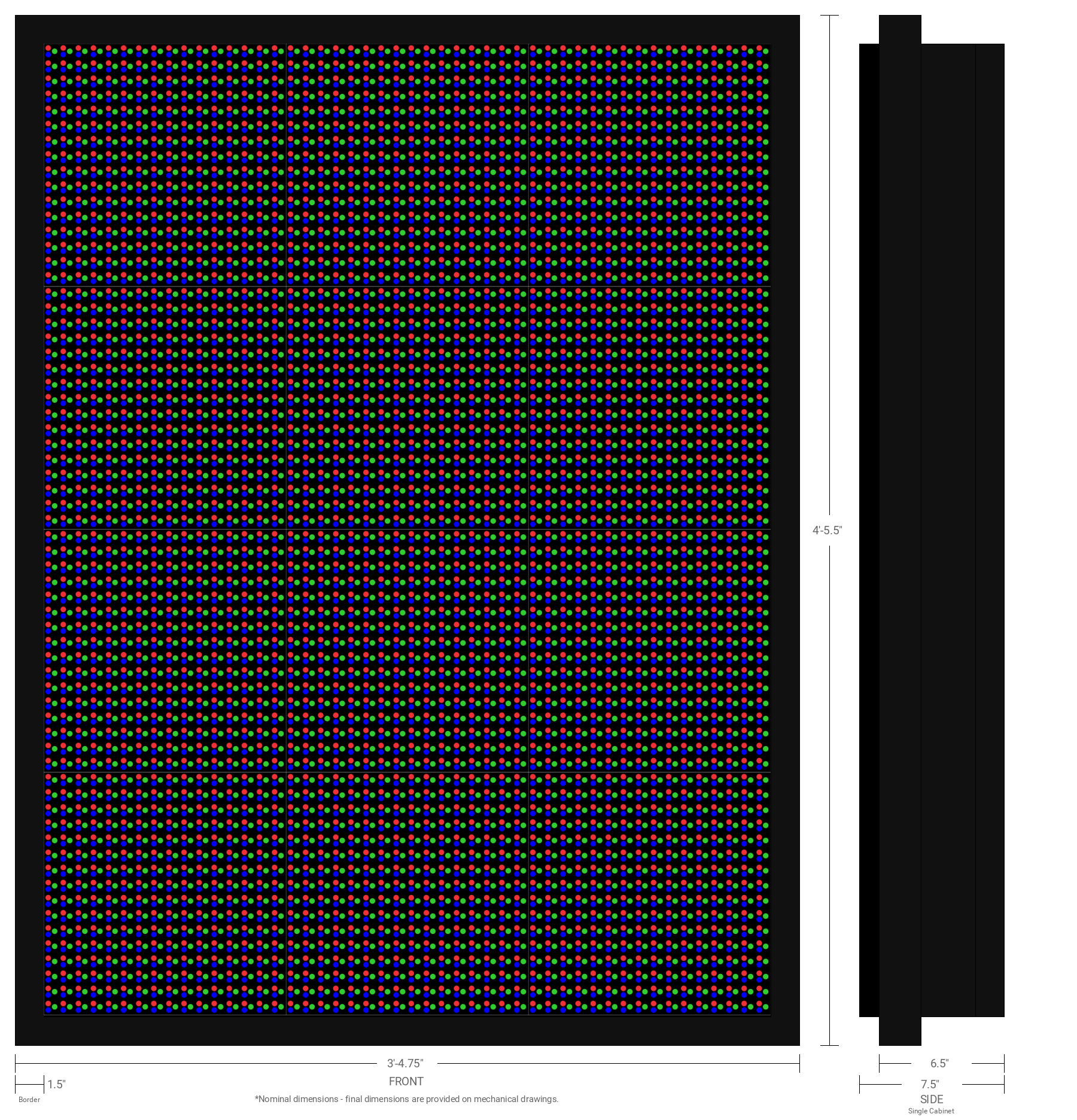 Polaris 20mm 64x48 Double Sided Full Color LED Display